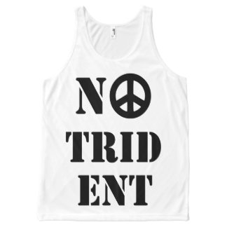 Scottish Independence No Trident Top All-Over Print Tank Top