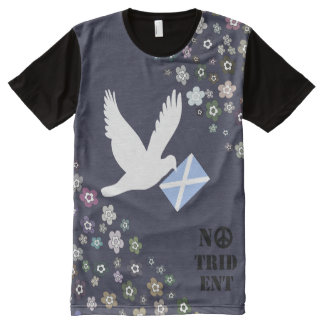 Scottish Independence No Trident White Dove Top All-Over Print T-Shirt