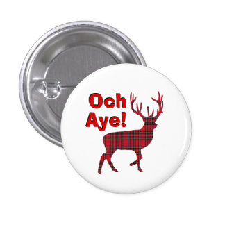 Scottish Independence Och Aye Stag 3 Cm Round Badge
