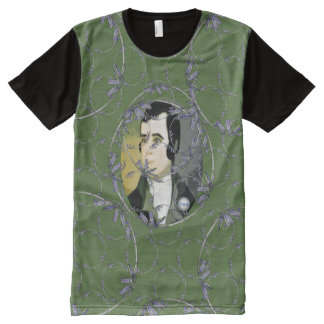 Scottish Independence Rabbie Burns Bluebell Art All-Over Print T-Shirt