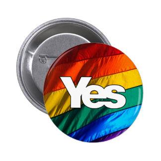 Scottish Independence - Rainbow Yes Badge