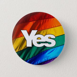 Scottish Independence - Rainbow Yes Badge