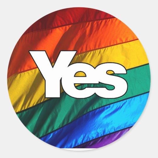 Scottish Independence - Rainbow Yes Sticker