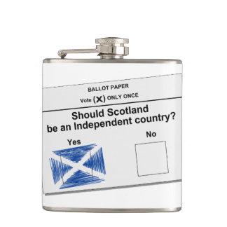Scottish Independence Referendum Question, Hip Flask