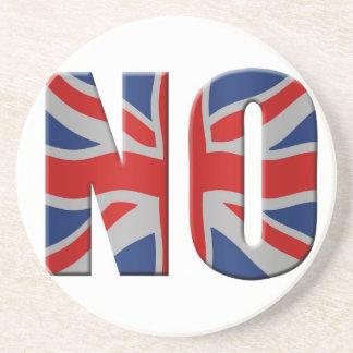 Scottish independence referendum - vote no coaster