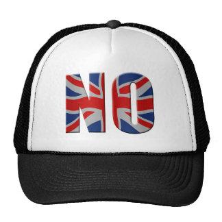 Scottish independence referendum - vote no trucker hat