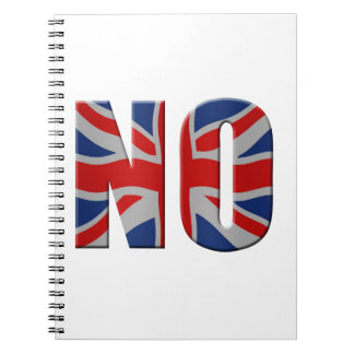 Scottish independence referendum - vote no spiral notebook