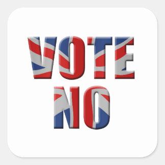 Scottish independence referendum - vote no square sticker
