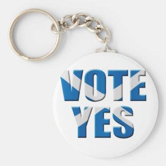 Scottish independence referendum - vote yes basic round button key ring