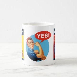 Scottish Independence Retro Strong Woman Yes Mug