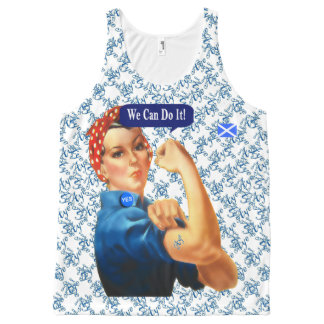 Scottish Independence Rosie Says Aye All-Over Print Tank Top