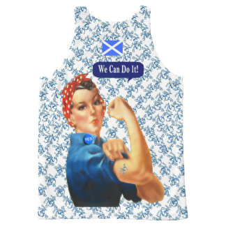 Scottish Independence Rosie Says Yes All-Over Print Tank Top