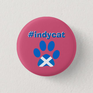 Scottish Independence Saltire Flag Cat Paw Badge
