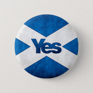 Scottish Independence - Saltire Yes Badge