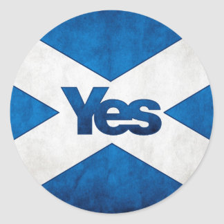 Scottish Independence - Saltire Yes Sticker