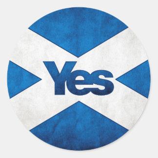 Scottish Independence - Saltire Yes Sticker