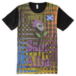 Scottish Independence Saor Alba Nuked Thistle Tee All-Over Print T-Shirt
