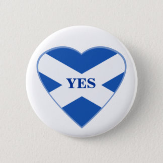 Scottish Independence Scotland Flag Heart Badge