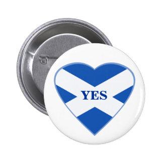 Scottish Independence Scotland Flag Heart Badge