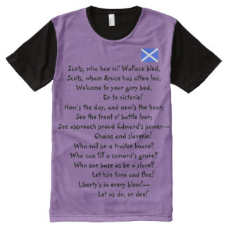 Scottish Independence Scots Wha Hae All-Over Print T-Shirt
