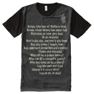 Scottish Independence Scots Wha Hae Lyrics Tee All-Over Print T-Shirt