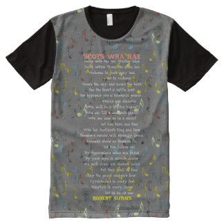 Scottish Independence Scots Wha Hae Robert Burns T All-Over Print T-Shirt