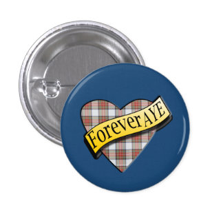 Scottish Independence Tartan Forever Aye Badge