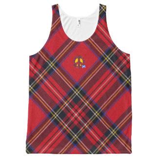 Scottish Independence Tartan Peace Symbol All-Over Print Tank Top