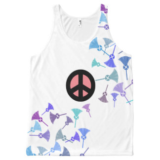 Scottish Independence Thistle Flower Art Tank All-Over Print Tank Top