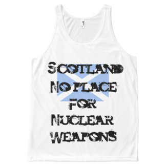 Scottish Independence Trident Anti-Nuclear All-Over Print Tank Top