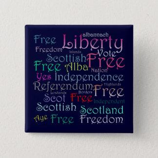 Scottish Independence Word Pinback Badge