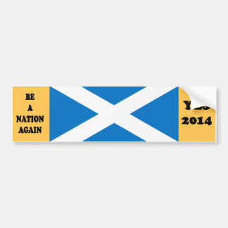 Scottish Independence Yes 2014 Bumper Sticker