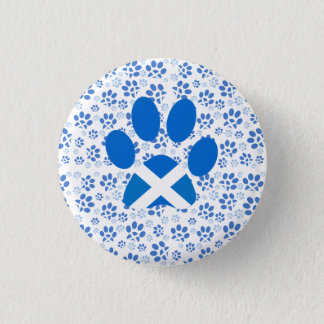 Scottish Independence Yes Cat Paw Print Badge