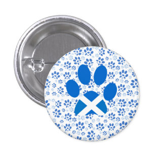 Scottish Independence Yes Cat Paw Print Badge Button