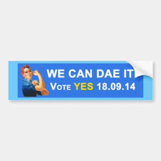 Scottish Indy We Can Dae It Bumper Sticker