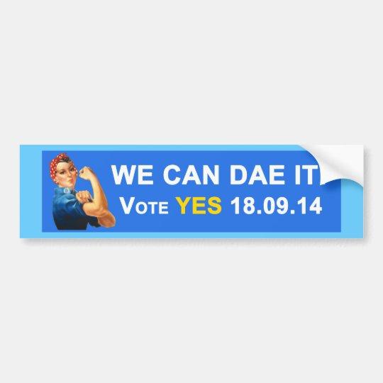 Scottish Indy We Can Dae It Bumper Sticker