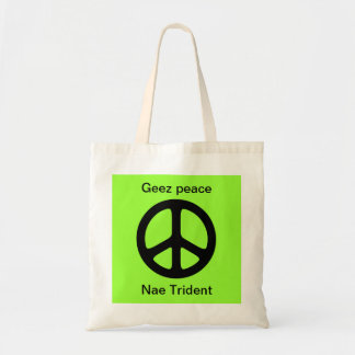 Scottish Indyref Geez Peace Tote Bag