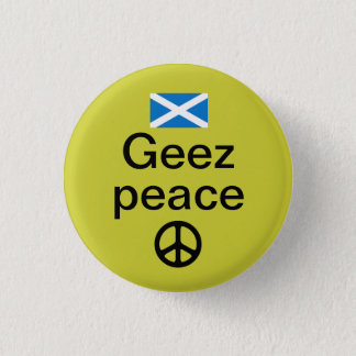 Scottish Indyref Peace Pinback 3 Cm Round Badge