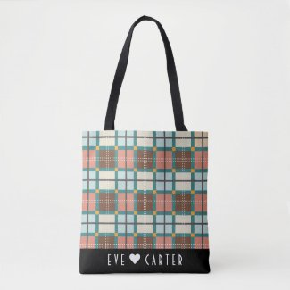 Scottish Inspired Fair Isle Tartan Tote Bag