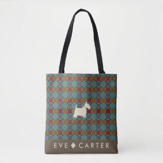 Scottish-Inspired Scottie Tartan Tote Bag