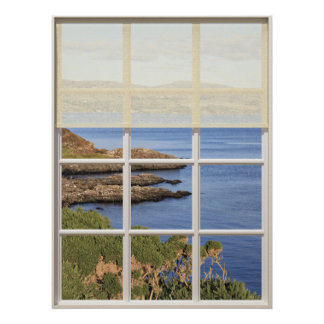 Scottish Island View from Window Poster