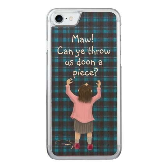 Scottish 'jeely piece' kid carved iPhone 7 case