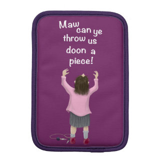 Scottish 'jeely piece' kid iPad mini sleeve