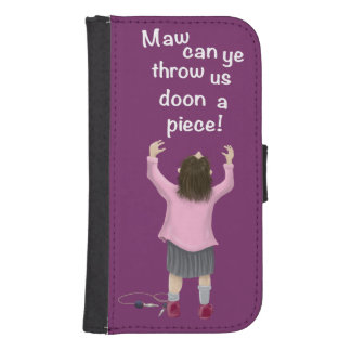 Scottish 'jeely piece' kid phone wallets