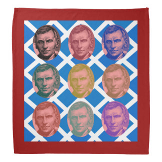 Scottish John Maclean Saltire Pattern Bandana