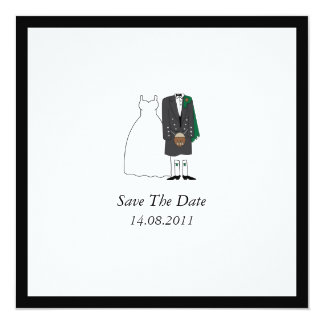 Scottish Kilt Bride & Groom Wedding Save the Date Card