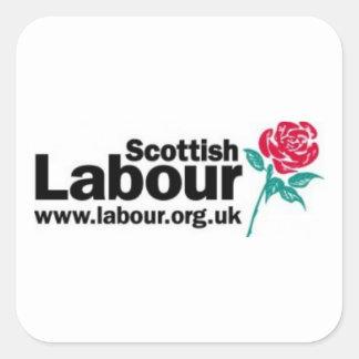 Scottish Labour Old Logo Square Sticker