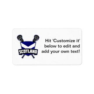 Scottish Lacrosse Logo Address Label