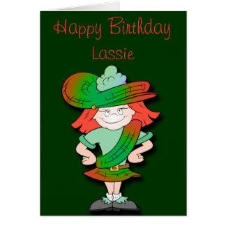 Scottish Lassie Birthday Card