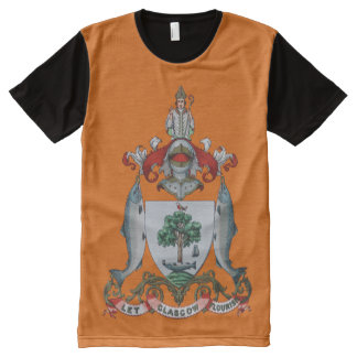 Scottish Let Glasgow Flourish Coat of Arms All-Over Print T-Shirt